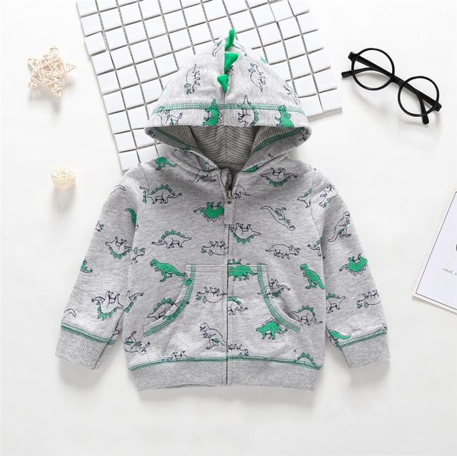 2019 Rushed New  Menino Autumn Winter Warm Baby Clothes Girls Sleeve Hoodies Boy Sweatshirt With Zipper Dot Outfits 2