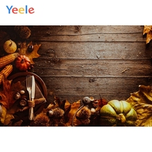 Yeele Autumn Harvest Pumpkin Wood Board Photography Background Happy Thanksgiving Day Photocall Backdrop For Photo Studio