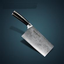 """LD brand VG10 Damascus carbon steel 8 """"kitchen chef knife Cleaver knife with Mosaic Rivet Super Quality Free Shipping"""