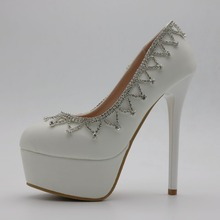 Shoes Woman Shoes  women Bridal Shoes Mid Heels Round Toe Lace Rhinestone Pumps Bridesmaids Wedding Shoes zapatillas mujer
