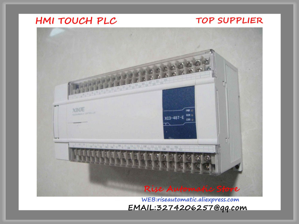 New Original Programmable Controller Module XC3-48T-E PLC AC220V DI 28 DO 20 Transistor new original programmable controller digital plc module di 4 do 4 transistor output dvp08xp211t