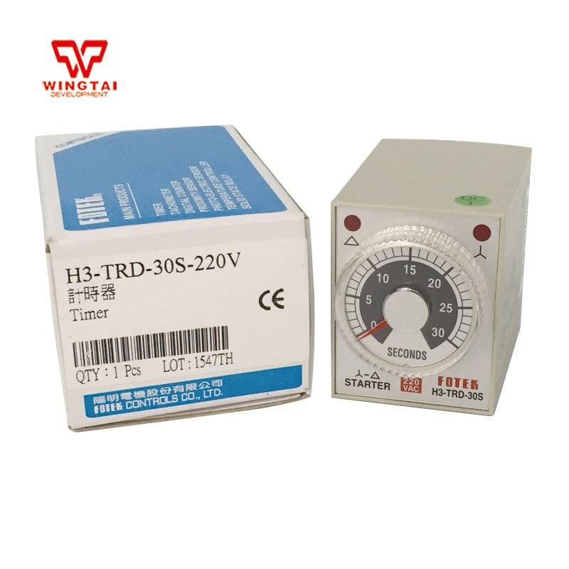 VAC220 Taiwan FOTEK minuterie H3-TRD-30S relais minuterie 30 s