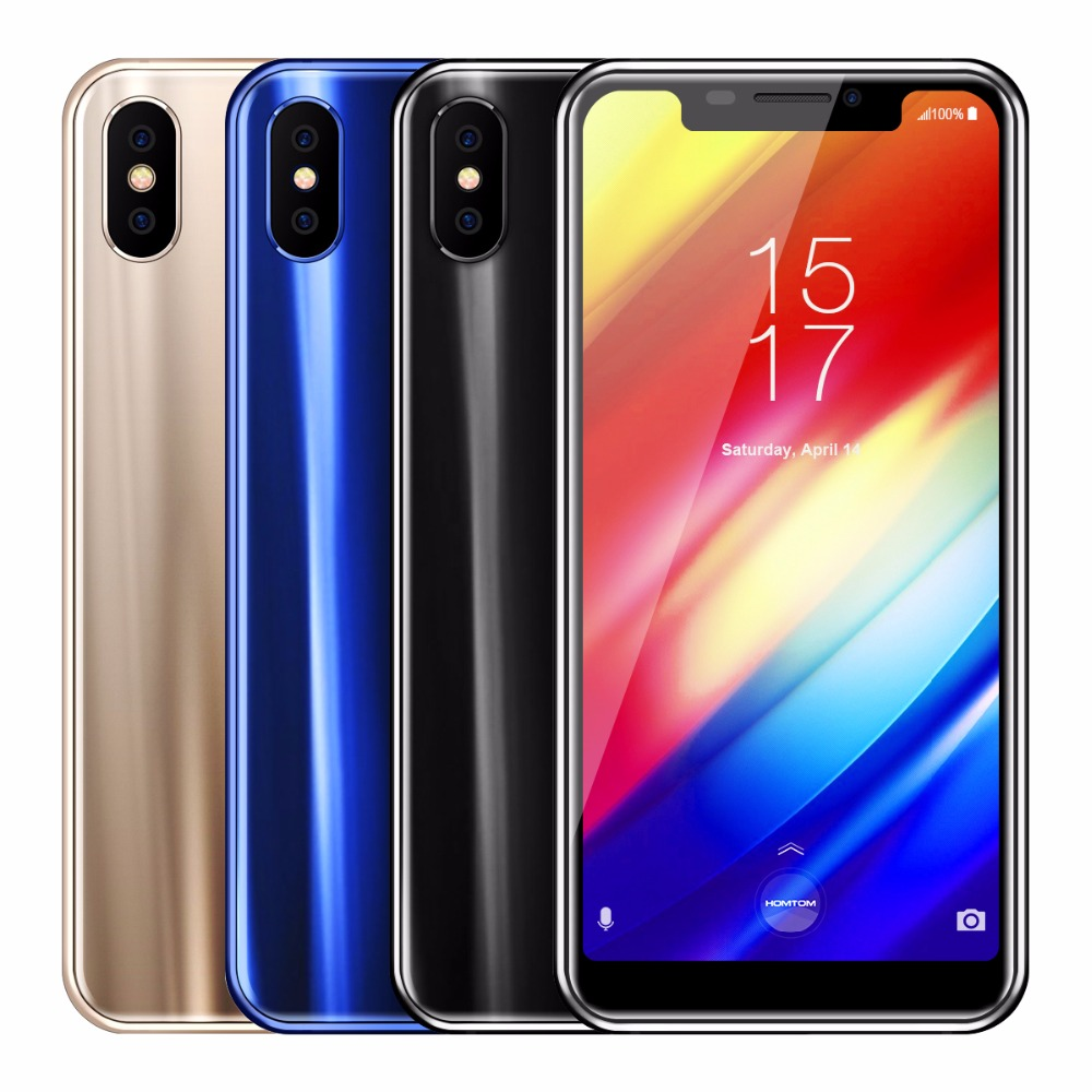 Homtom H10 MTK6750T 1.5GHz Octa Core 4GB RAM 64GB ROM Mobile Phone 5.85 Inch 3500mAh Android 8.1 Dual Camera 4G LTE Smartphone