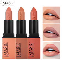 IMAGIC Creme Dnude Soft Blankety Born Brave Pink Lipstick 3 Colors Lip Paint Kit 3pcs Set