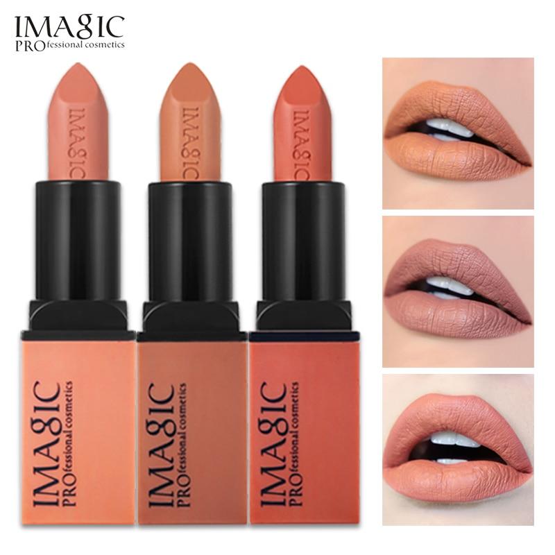 IMAGIC Creme Dnude Soft Blankety Born Brave Pink Lipstick 3 Colors Lip Paint Kit 3pcs/set