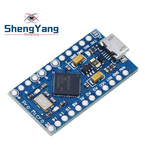 Image 5 - Pro Micro ATmega32U4 5V 16MHz Replace ATmega328 For Arduino Pro Mini With 2 Row Pin Header For Leonardo Mini Usb Interface