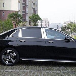 8pcs/set Polished Aluminum Window Pillar Post Trim Kit Cover Trim For Mercedes Benz W213 E Class 4 Door Sedan AMG 2016 2017(China)