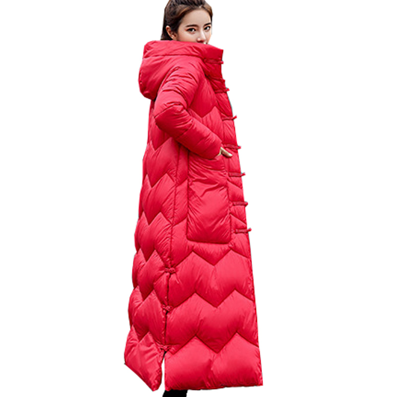 Hot sale 2019 Sale Long Down   Parka   Women Thick   Parka   Direct Selling Clothes Woman With Long Winter Jacket Coat Color Collars