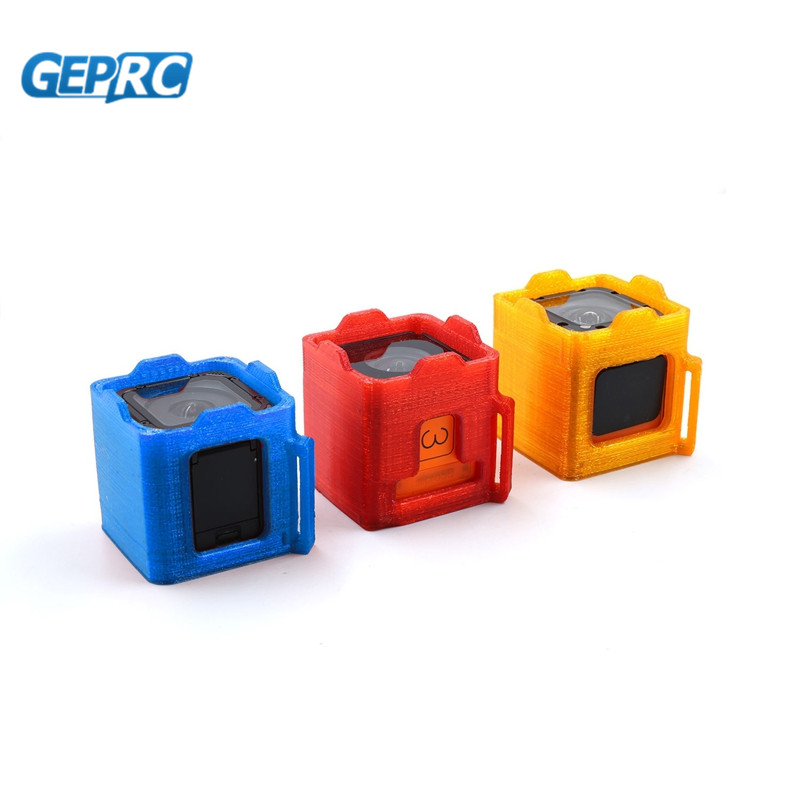 GEPRC 3D Printed Camera Protective Case Protector For GoPro Session / Foxeer Box Sport Cam For RC Racing Drone Model Red Blue