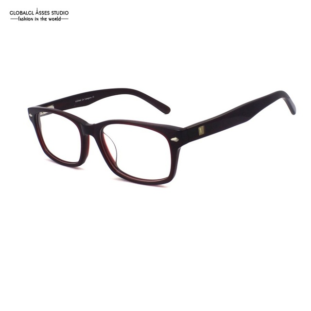 693feee839 Brand Designer Mature Big Square Lens Acetate Frame Women Dark Red Eyewear  Flex Hinge Prescription Glasses Frame WW946 C4