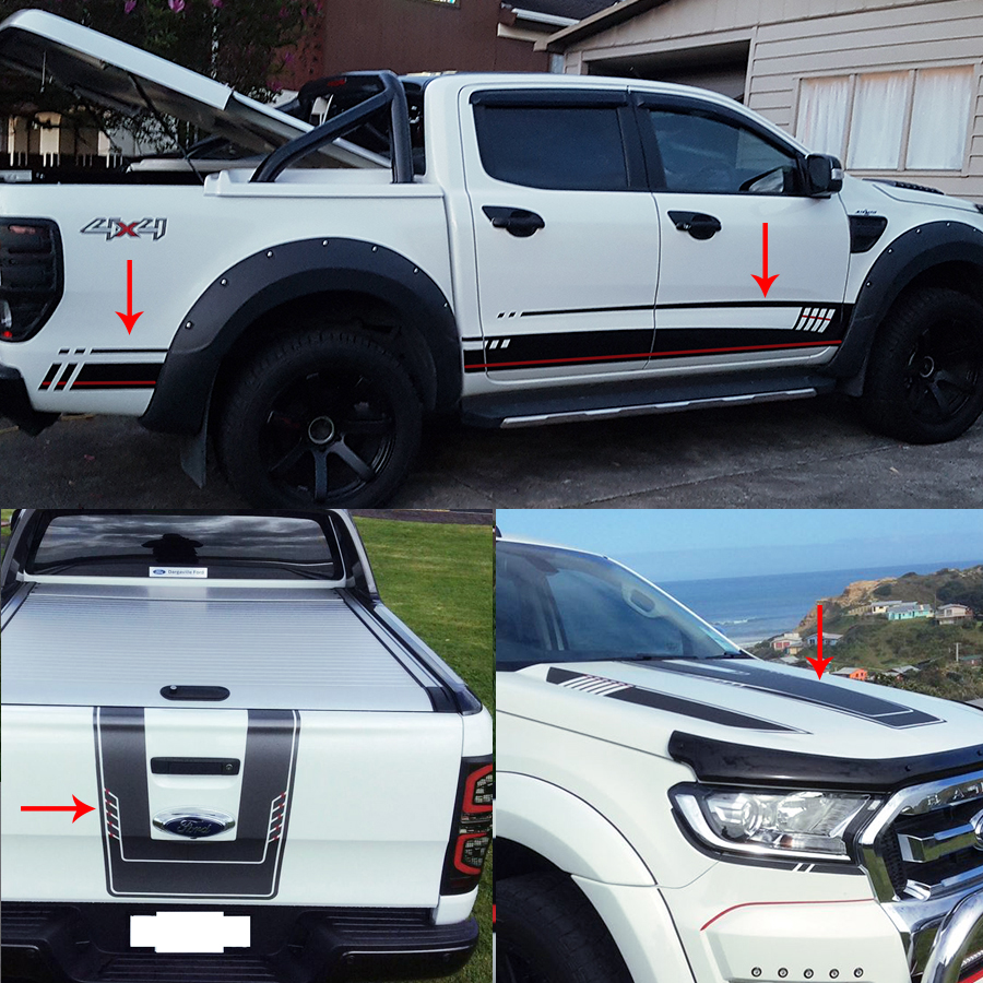 Car stickers the Whole Body vinyl car wrap for Ford ranger 2012 2017