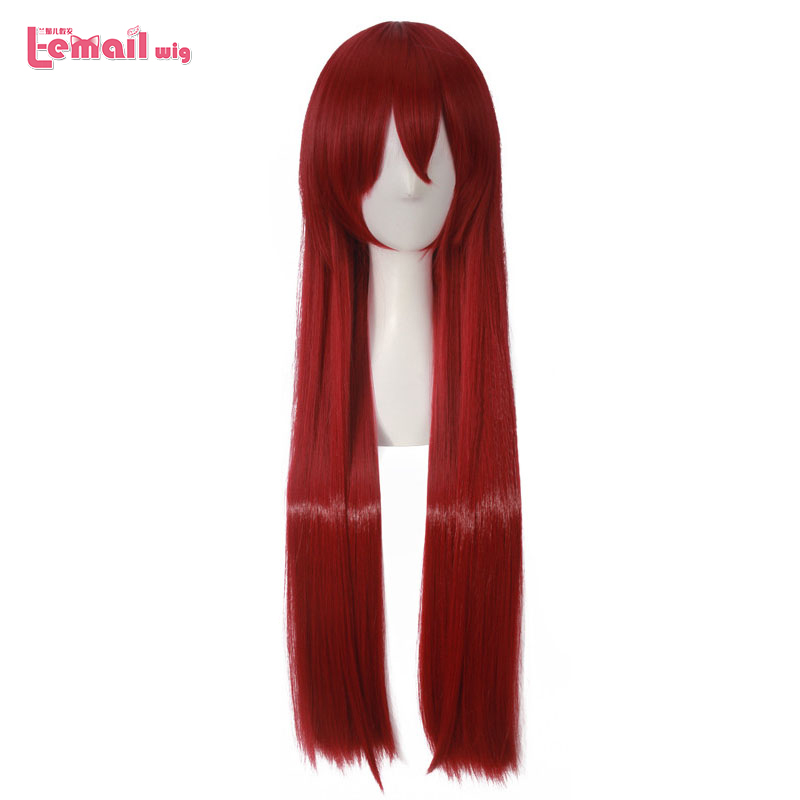 L-email Wig New Arrival Game Steins Gate Zero Makise Kurisu Cosplay Wigs 100cm Long Synthetic Hair Perucas Cosplay Wig