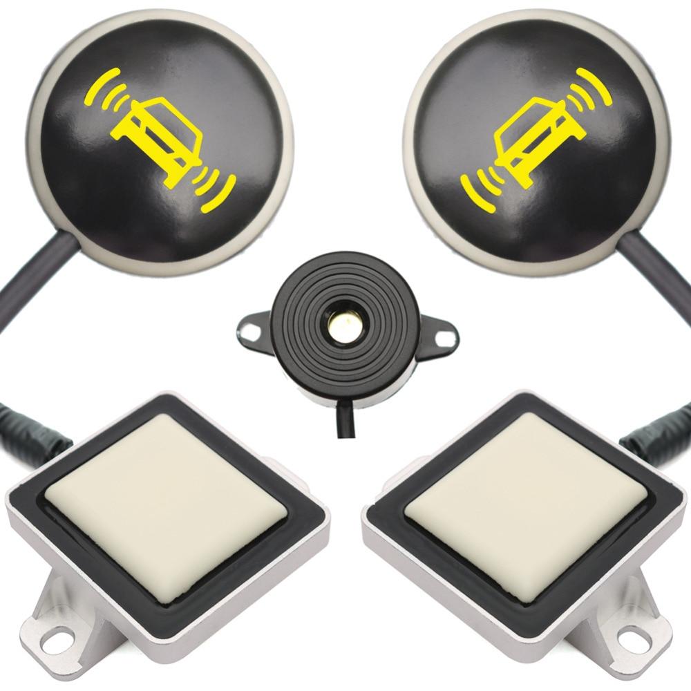 Vehicle Car Blind Spot Detection System BSD Microwave Radar Sensor Chang Lane LED Light Warning Buzzer