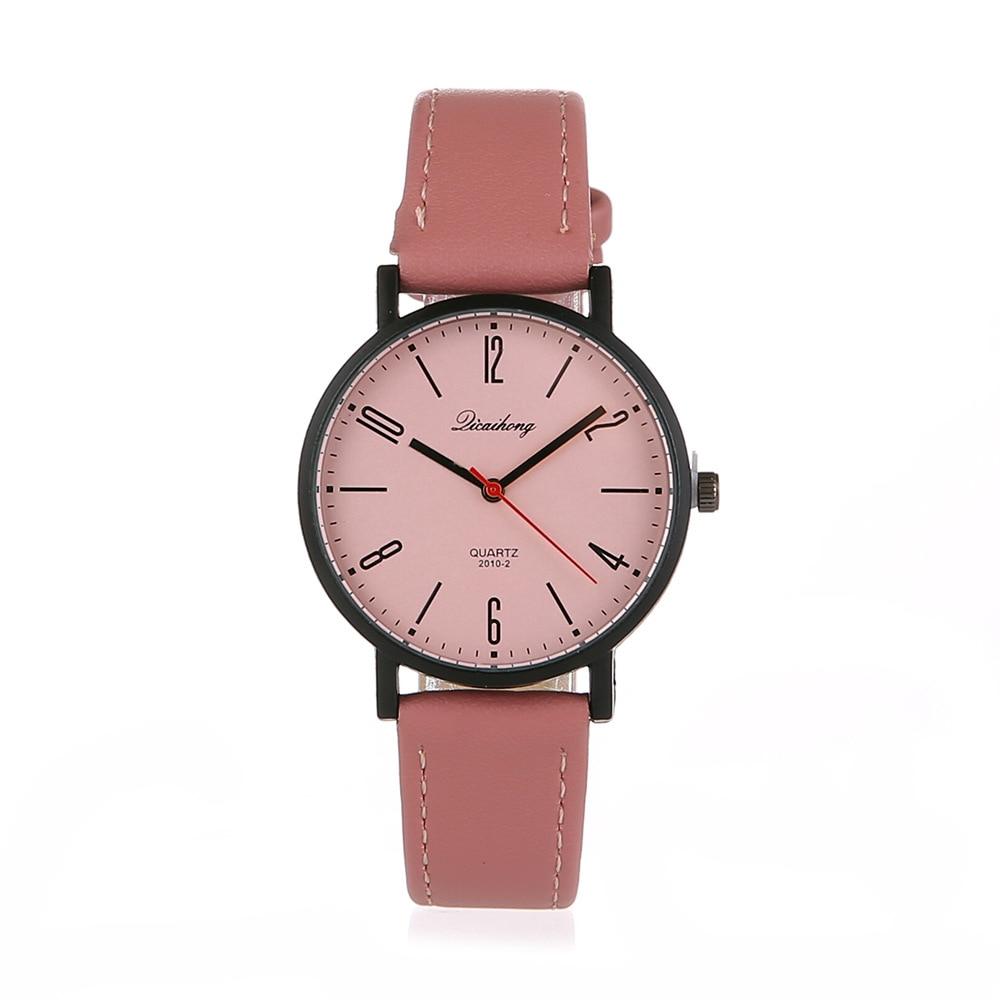 2018 Leather Band Analog Alloy Quartz Wrist Watch polly ho stylish silicone band zinc alloy case men s quartz analog wrist watch black 1 x 377