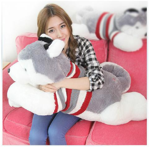 2002Wholesale 70cm Plush Toy husky dog, Christmas gifts, birthday gifts,Pillow doll, send women, holiday gifts wholesale husky plush toy dog 40cm the whole network lowest price free shipping