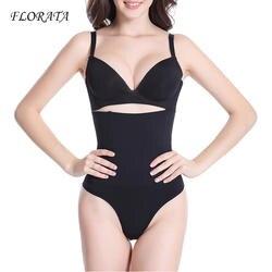 FLORATA для похудения Высокая Талия Body Shaper фирмы Управление стринги назад прикладом трусики Корсет Ремни Для женщин Корректирующее белье