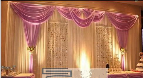 Romantic 3X6Meters Ice Material Soft Wedding Backdrops Wedding stage ...