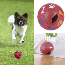 Pet Cat Dog Toy Drain Food Ball Pet Toy Puzzle Resistant Bite Dog Training Product Fun Food Chew Ball For Puppy 1pcs Newest 2016