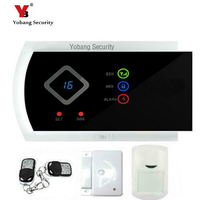 YobangSecurity English Russian Spanish Italian Slovak G10A Wireless Wired GSM Alarm System Security Home With Android APP