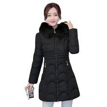 2016 Fashion Snow Wear Faux Fur Hood Parka Winter Women Jacket Thick Warm Coat Cotton Winter Coat Women Slim Female Jackets