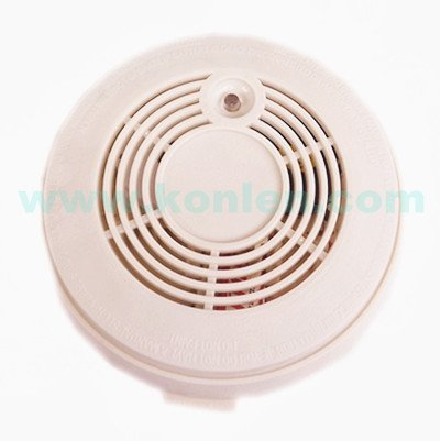 Standalone fire alarm smoke detector with DC12V battery in Warm white color