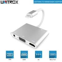 5 Pcs High Quality HDTV OTG Cable For Lightning To HDMI VGA AV Audio Vidio Adapter For iPhone X/XS/XR/8P/8/7P/iPad Air/Mini/iPod