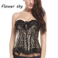 Women Intimates Corsets Top Sexy Leopard Bustiers Corset Ruffles Printing Underwear Halloween Sexy Cosplay Costumes For