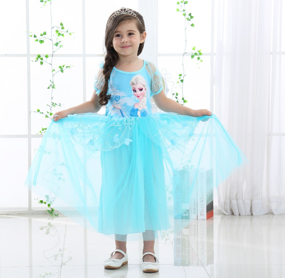 Princess Sofia Girl Pageant Maxi Gowns Summer Short Sleeved Kids ...