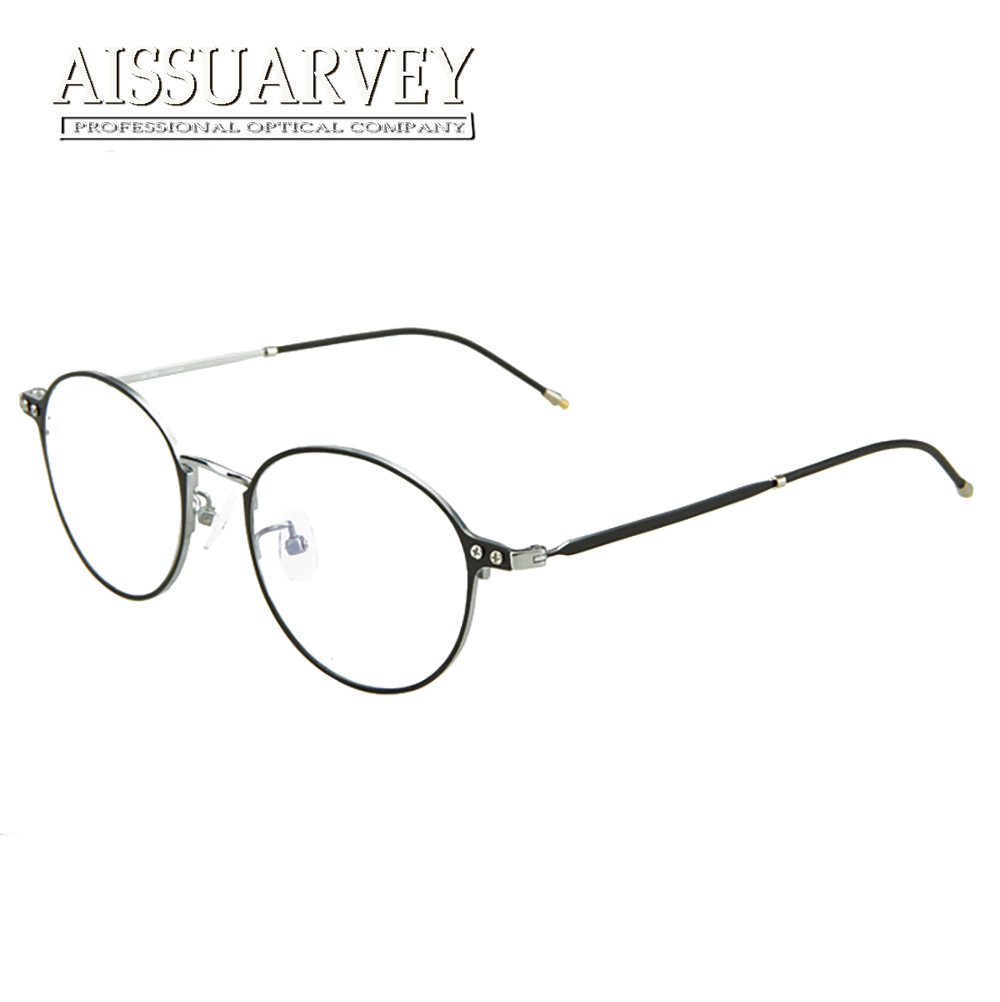 Pure Titanium Eyeglasses Frames Women Top Quality Optical Glasses Eyewere Goggles Prescription Clear Lenses Vintage Round