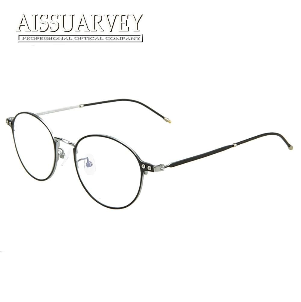 Montures de lunettes en titane pur femmes lunettes optiques de qualité supérieure lunettes de Prescription lentilles claires Vintage rond en métal