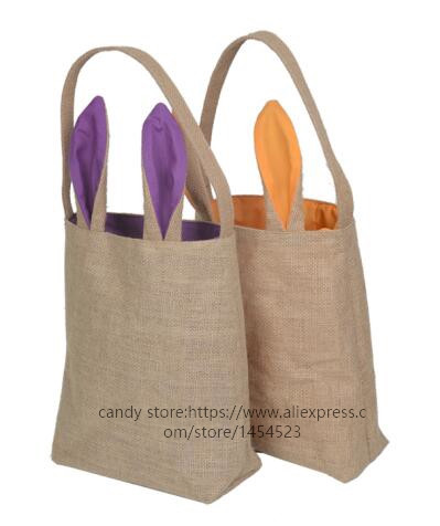 200pcs wholesale easter bunny gifts bag diy rabbit ears burlap jute 200pcs wholesale easter bunny gifts bag diy rabbit ears burlap jute basket blank bags for kids mix 14 color party decoration in party favors from home negle Image collections