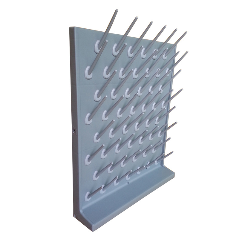 X001 Drying Rack Peg Board Polypropylene Color grey Drain Rack 550mm 440mm 11 5 mm