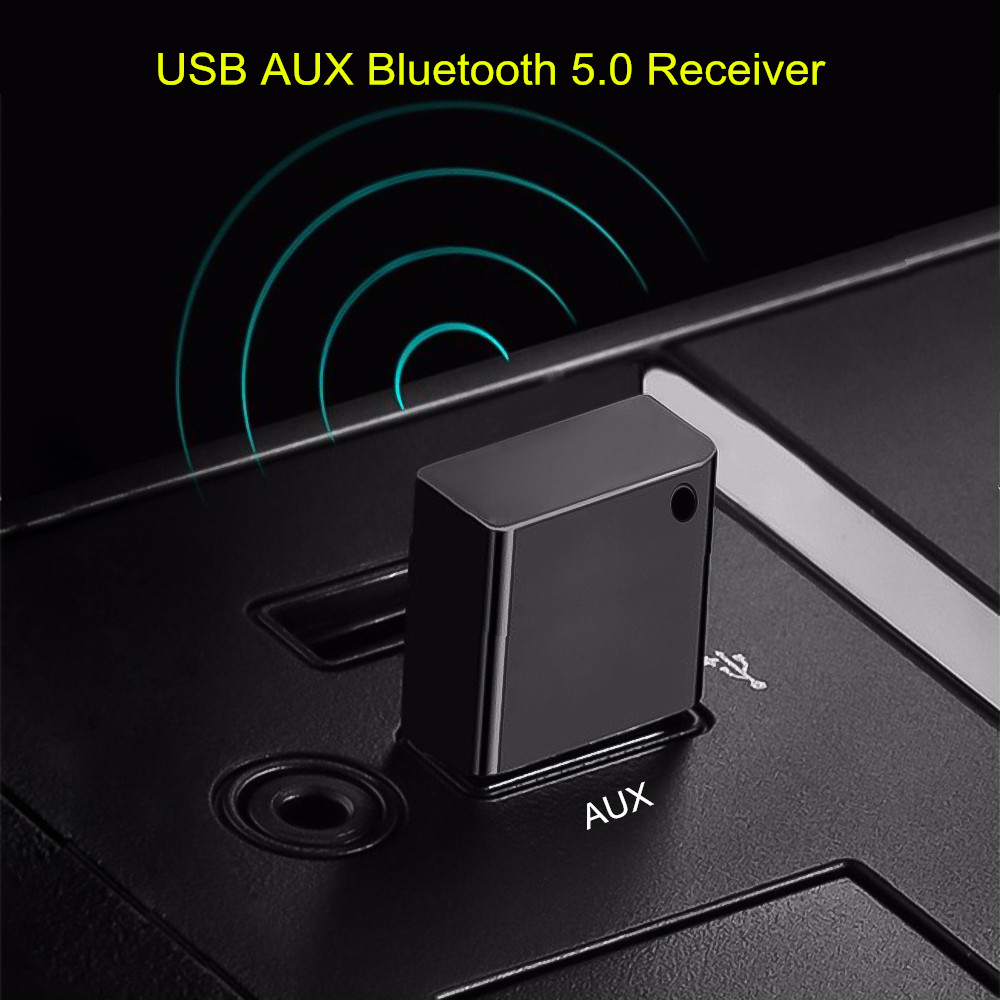 USB AUX Bluetooth 5.0 Car Kit Wireless Audio Receiver USB Dongle Adapter For Car Radio MP3 Player Wireless Mouss No 3.5mm Jack