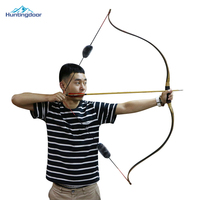 High Quality 25 45lbs Wooden Recurve Bow 55 inches Long Bow Traditional Bow for Outdoor Hunting Target Shooting Games