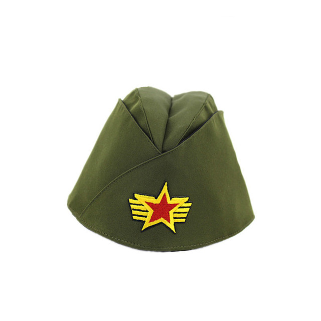 Women Miltary Side Cap Foldable Pilotka Garrison Army Caps Cosplay ... 62f567ba48a