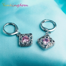 Yunkingdom Lovely square design drop earrings female fashion charms fashion jewelry