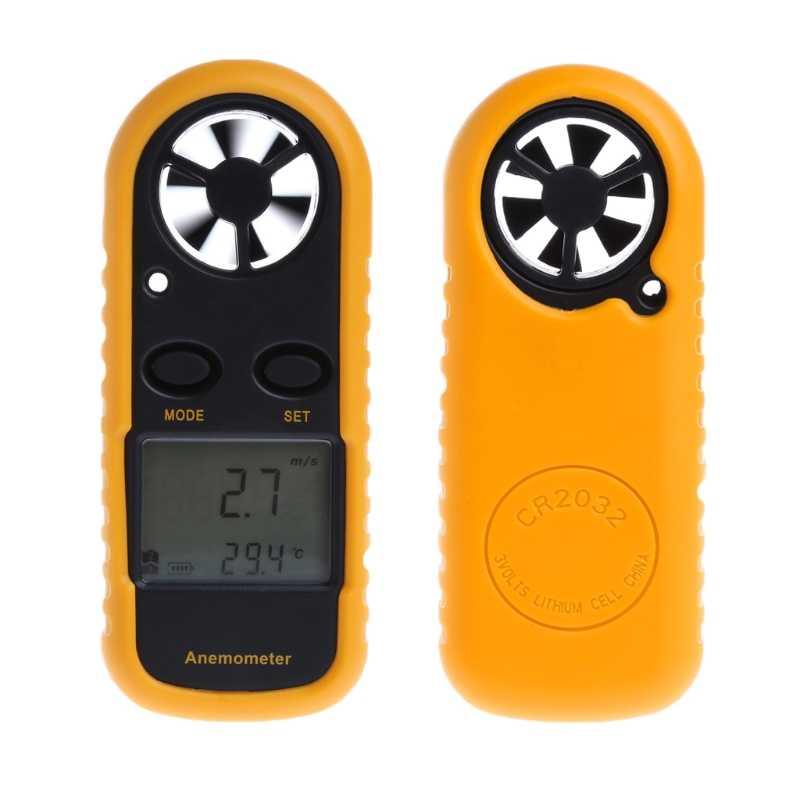 GM816 Mini Digitale Anemometer Windsnelheid Temperatuur Tester w/LCD Backlight