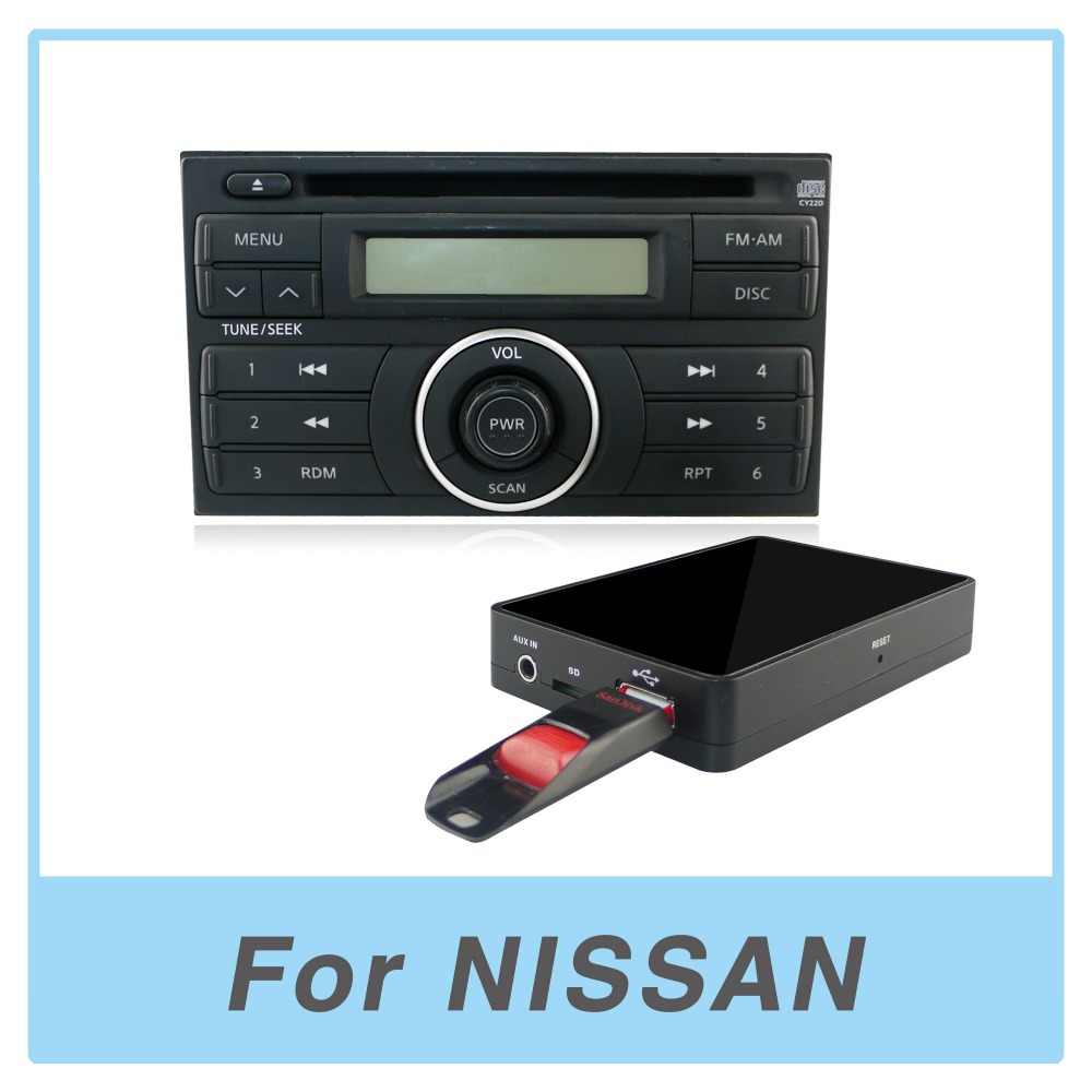 hight resolution of car radio usb aux sd card adapter mp3 player digital cd changer for nissan maxima 2000 2006
