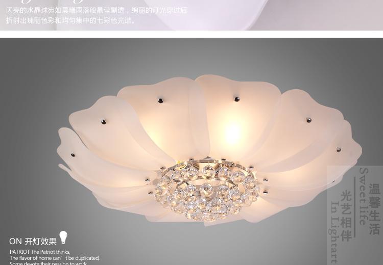 a6fb1a83fe0 Flower crystal ceiling lamp D50cm   D60cm   D70cm living room ...
