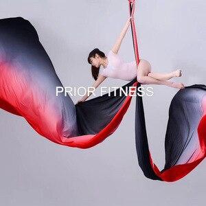 Image 2 - Nowy 15 jardów 13.7M Ombre Aerial Silk wysokiej jakości Gradational kolory Aerial Yoga Anti gravity do treningu jogi joga dla sportu