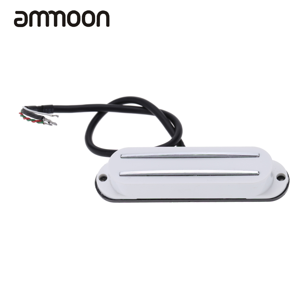 Hot Sale Dual Hot Rail Single Coil Humbucker Pickup 4 Wire for ...