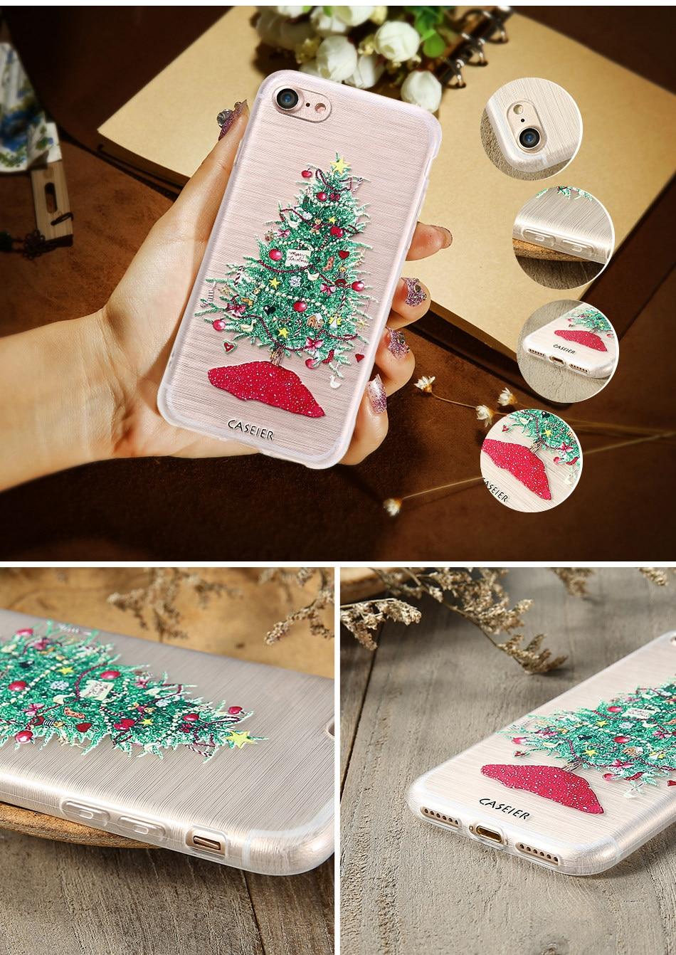 HTB1KOkgOpXXXXamXpXXq6xXFXXXV - Christmas Phone Case For iPhone 7 6 6S Plus iPhone 5S SE 5 Cases For Samsung Galaxy S6 S7 Edge Cute Cover Accessories PTC 286