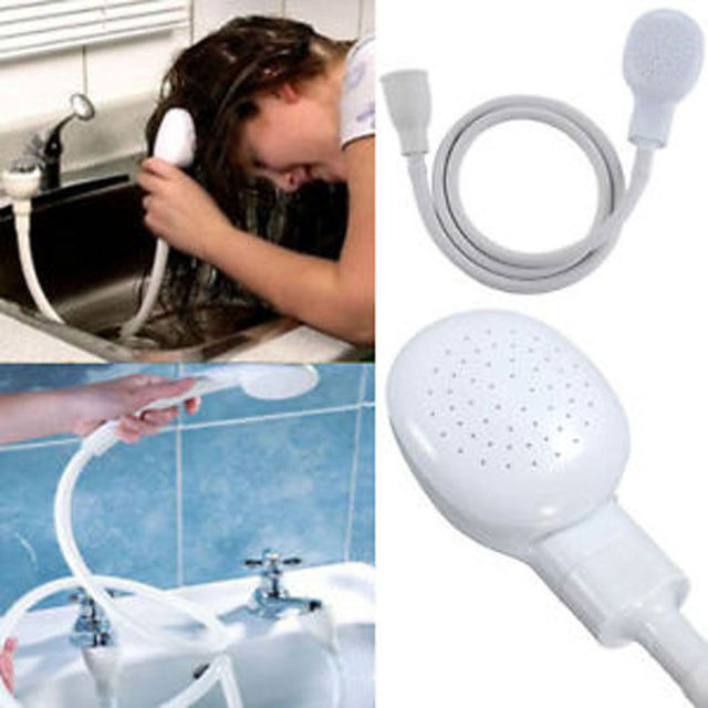 Hair Dog Pet Shower Sprays Hose Bath Tub Sink Faucet Attachment Washing  Indoors