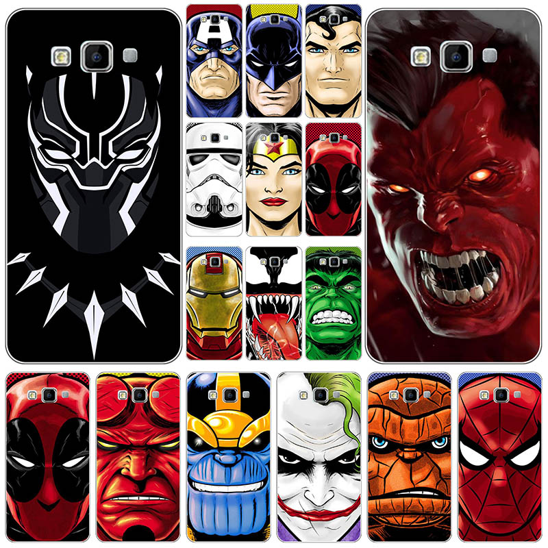 Hard Plastic Cute Drawing Fashion hero Back Phone Case For <font><b>Samsung</b></font> Galaxy A8 <font><b>A8000</b></font> 2015 5.7 inch Mobile Cover For <font><b>Samsung</b></font> <font><b>A8000</b></font> image