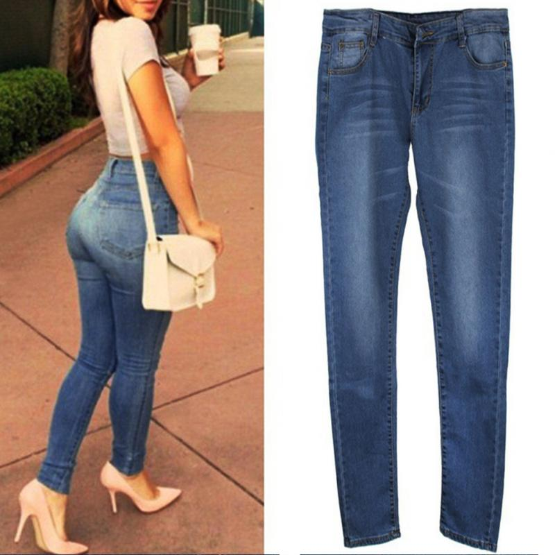 Women's Accessories Skinny New From Ninth Jeans Pants Women Female In Denim Waist Clothingamp; Slim Ladies Stretch High Length Pencil gfYy6b7