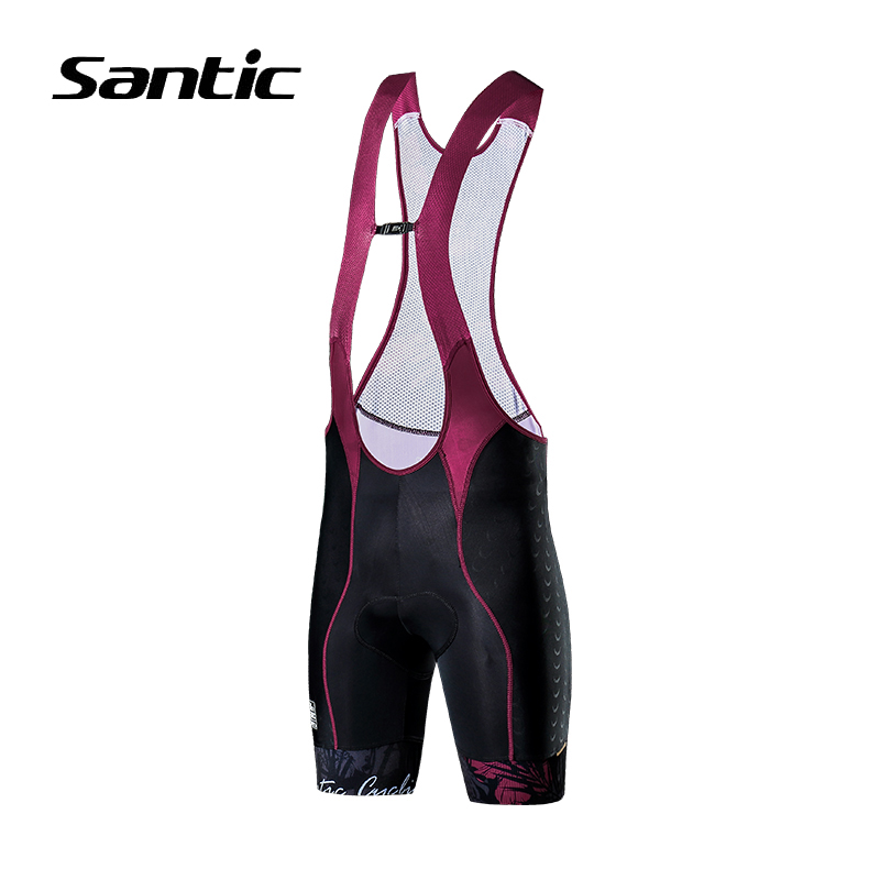 Santic Cycling Shorts Women 4D Sponge Padded Road Mountain Bike Shorts High Quality Quick Dry Riding Shorts Bicycle Clothing wosawe new men s cycling shorts 4d padded cool gel riding bike cycling clothing