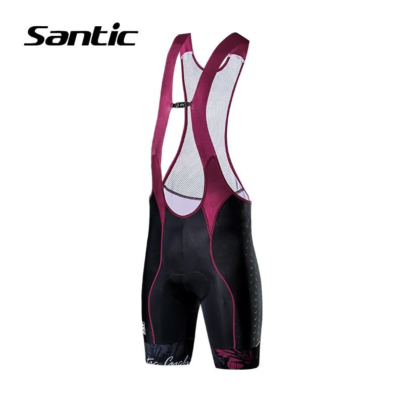 Santic Cycling Shorts Women 4D Sponge Padded Road Mountain Bike Shorts High Quality Quick Dry Riding Shorts Bicycle Clothing