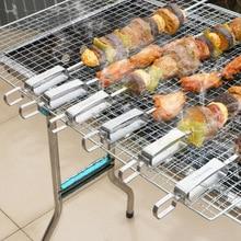Высококачественная Шпажки для барбекю из нержавеющей стали, игла, вилка для посуды, утюжок, инструменты для кемпинга, барбекю