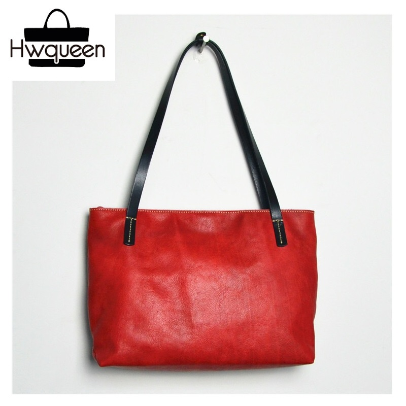 Japan Style Color-mixed Soft Cow Skin Lady Large Totes Purse Genuine Leather Woman Top-handle Handbag Female Single Shoulder BagJapan Style Color-mixed Soft Cow Skin Lady Large Totes Purse Genuine Leather Woman Top-handle Handbag Female Single Shoulder Bag