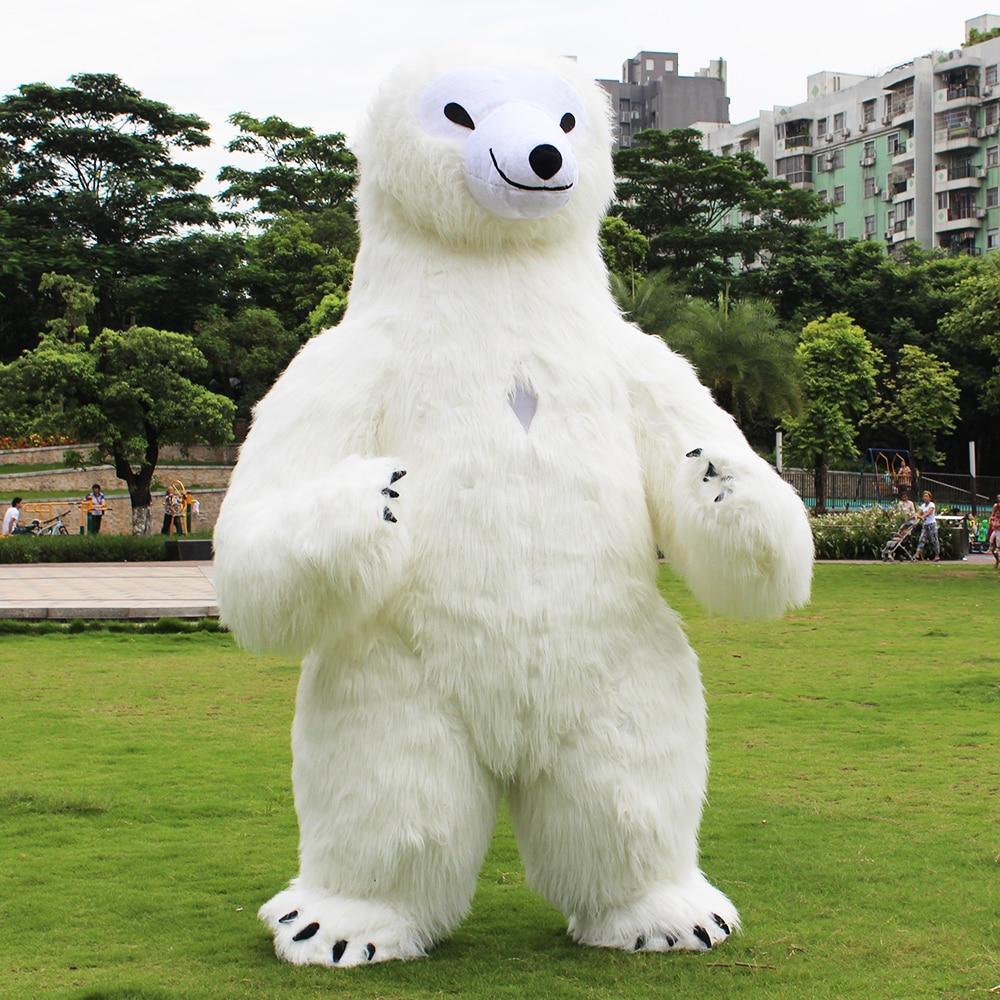 Date Ours Polaire Costume Gonflable Pour La Publicité 2.6 m Grand Personnaliser Pour Adulte Approprié Pour 1.6 m À 1.9 m adulte